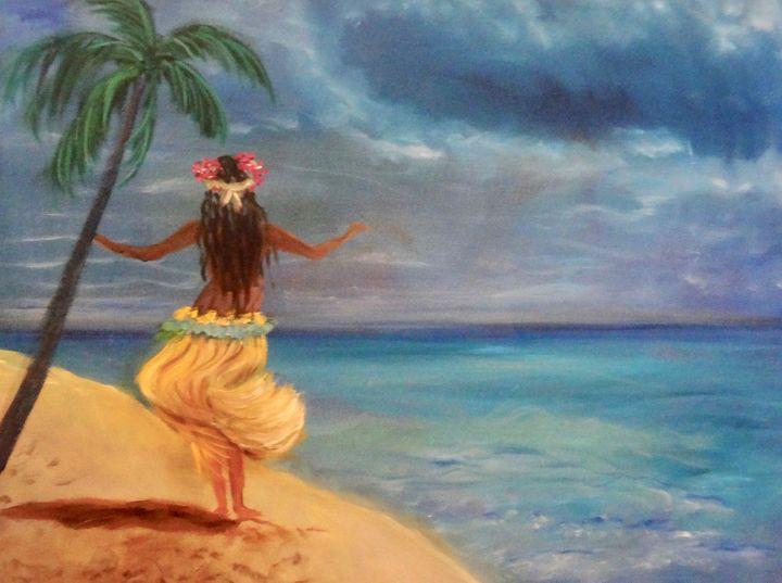 Grass Skirt on the Beach - Jennylee