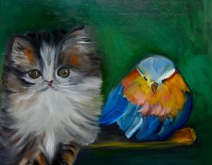 Kitty and Bird