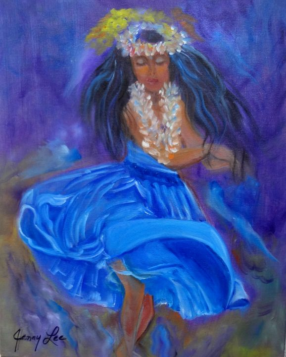 Hula in a Blue Skirt - Jennylee