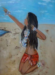 Hula Girl in a Sarong