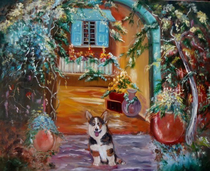 Corgi in the Garden - Jennylee