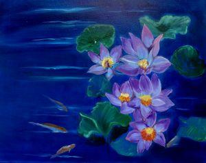 Koi fish in the Lotus Pond