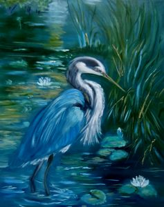 Blue Heron Plumage