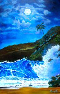 Hawaiian Moonlit Night