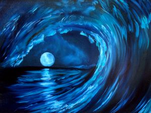 Moon in the Wave