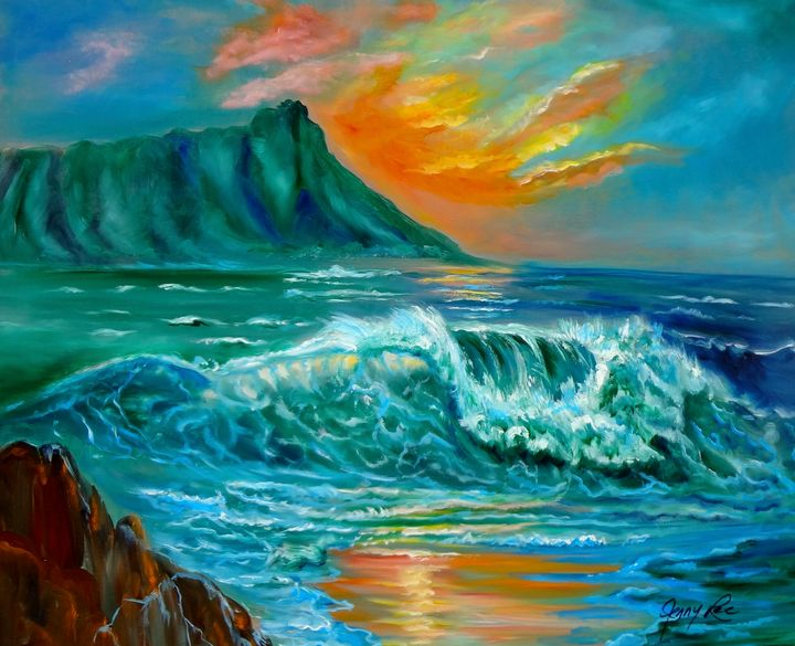 Beach Sunset at Diamond Head - Jennylee