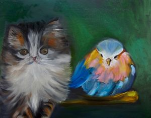 Kitty and the Bird