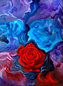 Swirling Abstract Rose