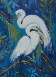 Graceful Egrets - Jennylee