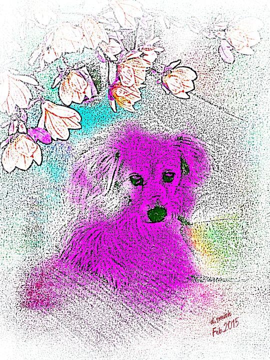 The Purple Dog - art by dawn
