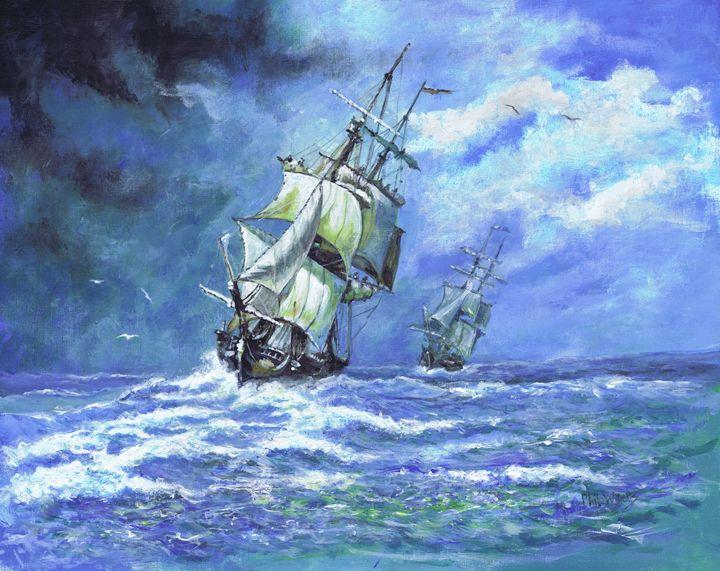Royal Navy frigates blockade - Phil Willetts