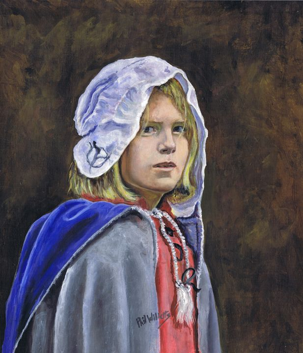 Girl in English civil war clothing - Phil Willetts