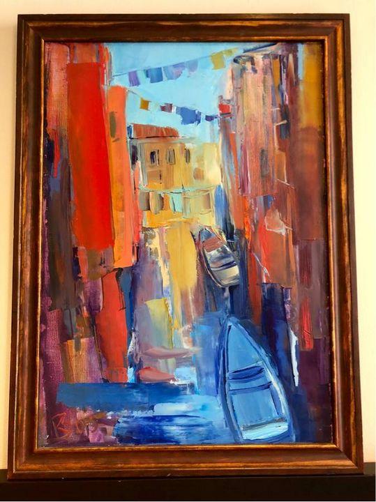 Oil Painting by Zarinskaya - Vikushinka