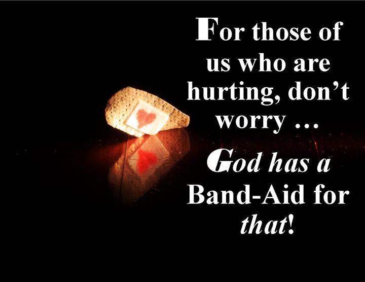 God Has a Band-Aid Soul Bite - Soul Bite Studio - Inspirational Art