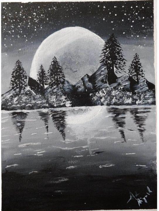 Voyage in full moon night - ArtistPiyush
