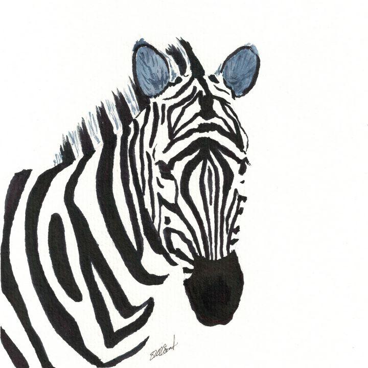 Zebra - Sean Kienle Watercolor Designs