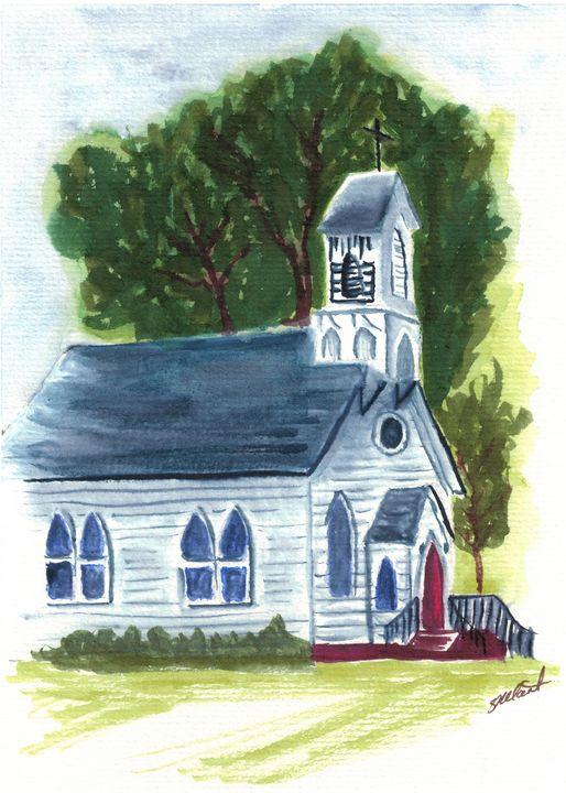 Little White Church - Sean Kienle Watercolor Designs