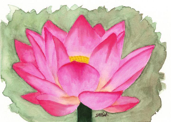 Lotus Flower - Sean Kienle Watercolor Designs