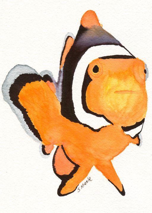 Clown Fish - Sean Kienle Watercolor Designs