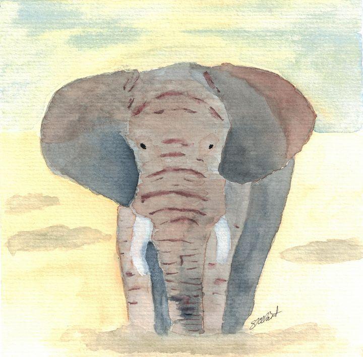 Elephant on Safari - Sean Kienle Watercolor Designs