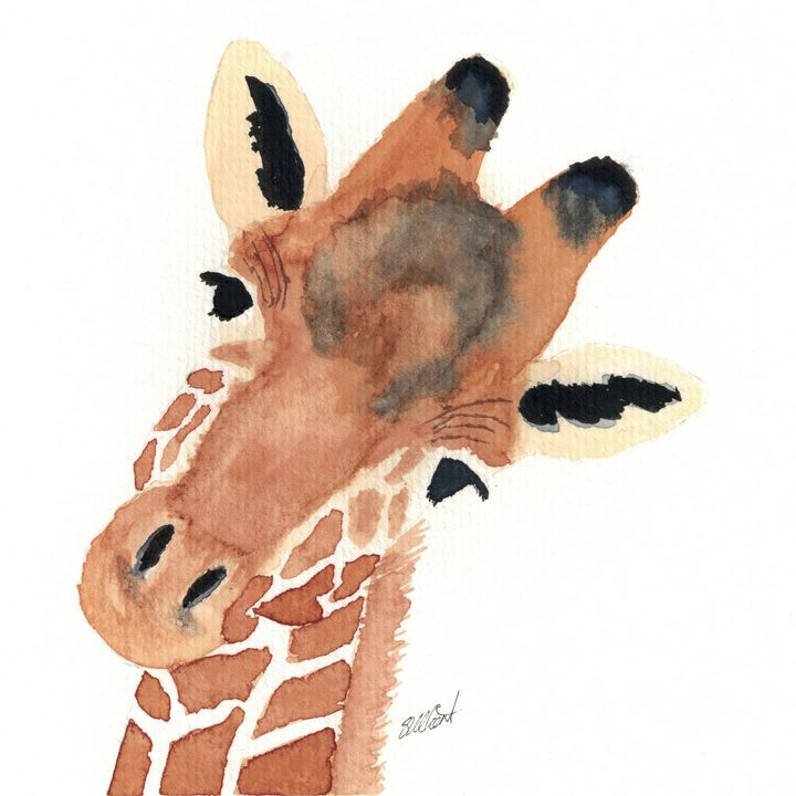 Curious Giraffe - Sean Kienle Watercolor Designs