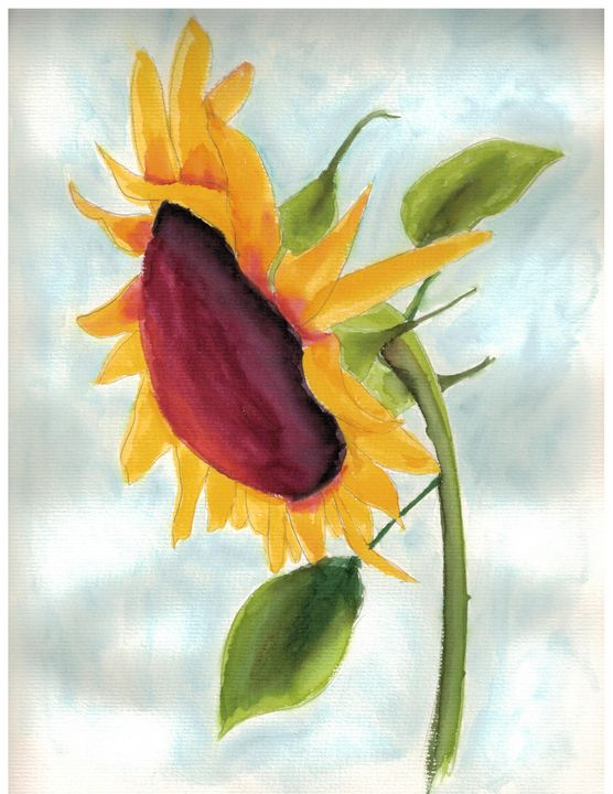 Sunflower in Autumn - Sean Kienle Watercolor Designs