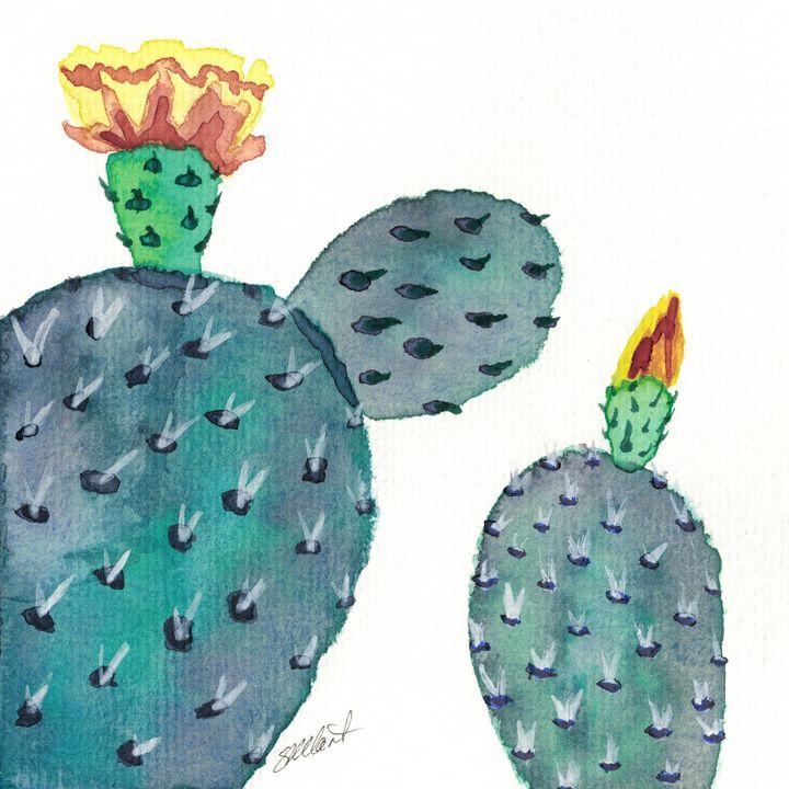 Purple Prickly Pear - Sean Kienle Watercolor Designs