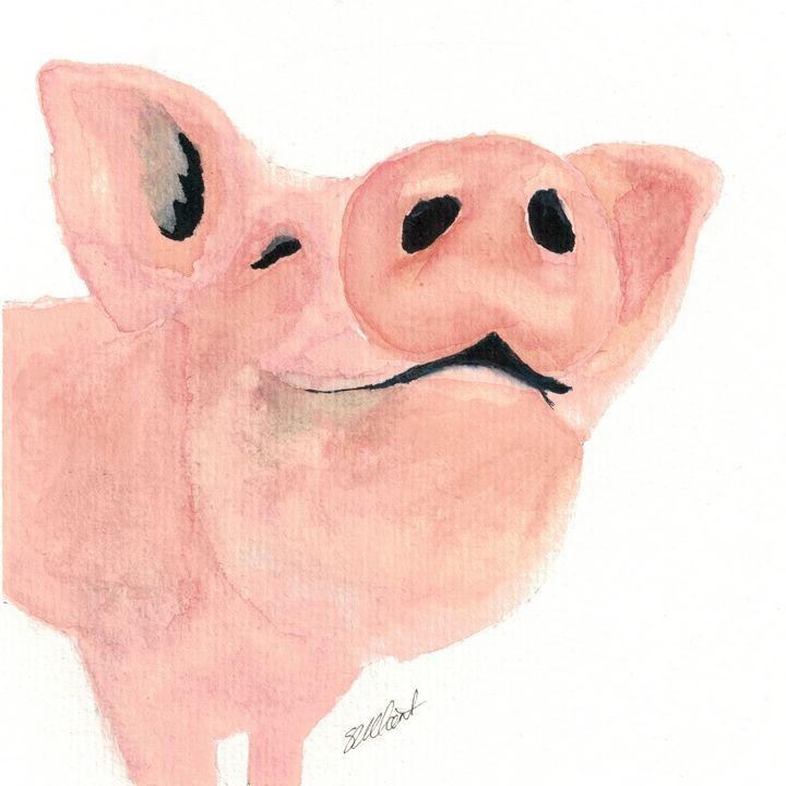 Happy Piglet - Sean Kienle Watercolor Designs