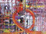 Roller Coaster, acrylic on canvas