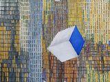 Cube, acrylic on canvas