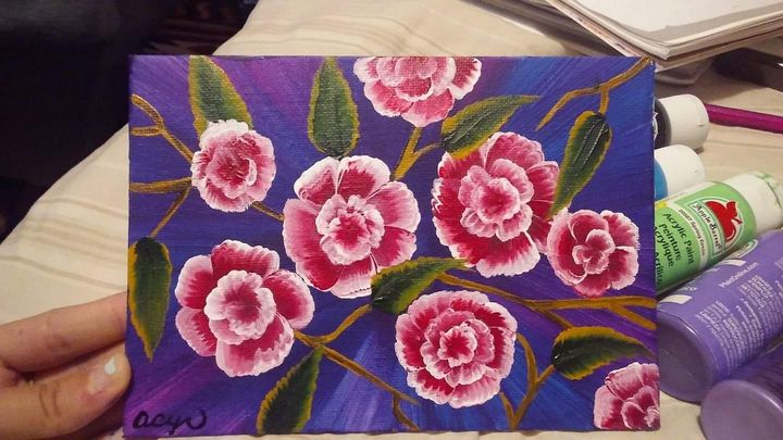 Flower Cluster Original Painting - Acrylic Paintings By Abby Cyr