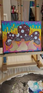 Hippy Shrooms Original Painting
