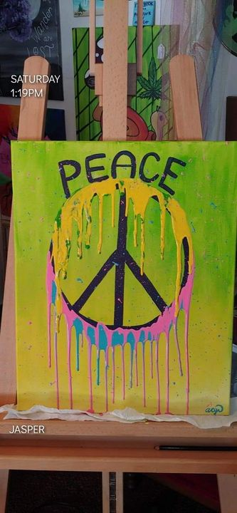 Spread Peace Original Painting - Acrylic Paintings By Abby Cyr