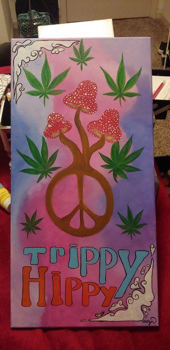 Trippy Hippy - Acrylic Paintings By Abby Cyr