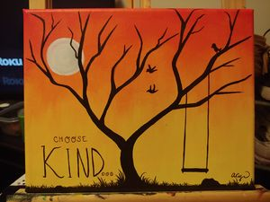 Choose Kind Original Painting