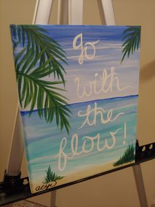 Go With the Flow Original Painting