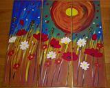 original painting in 3 pieces