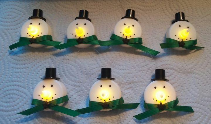 Snowman Tealight Christmas ornaments - shelly donahue