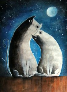 Moon and cats