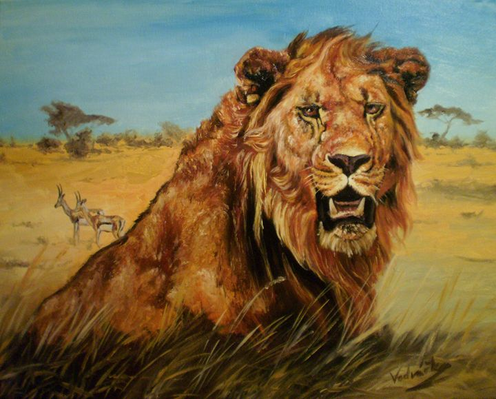 Lion - Painter Marek Vodvářka