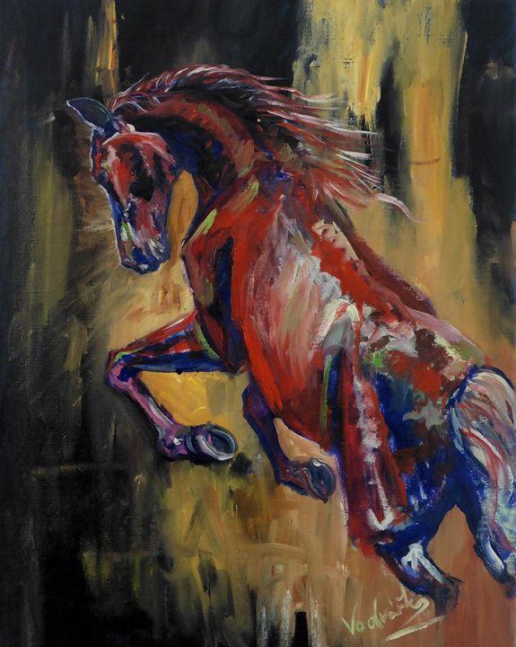 Red horse - Painter Marek Vodvářka