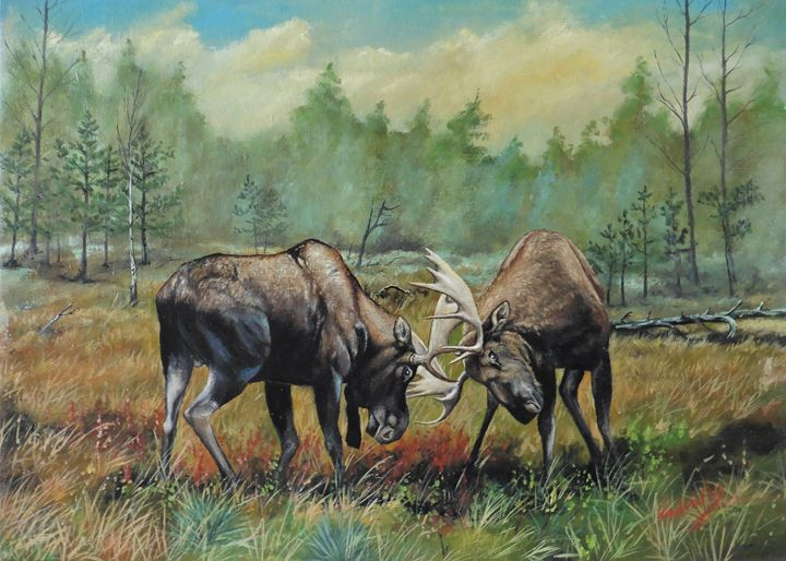 Moose - Painter Marek Vodvářka
