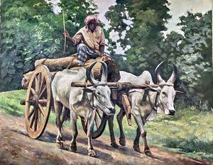 Traditional SouthIndian Bullock Cart