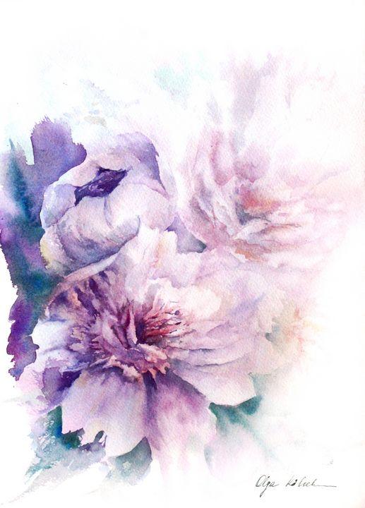 Dusty Pink Peonies - Olga Koelsch