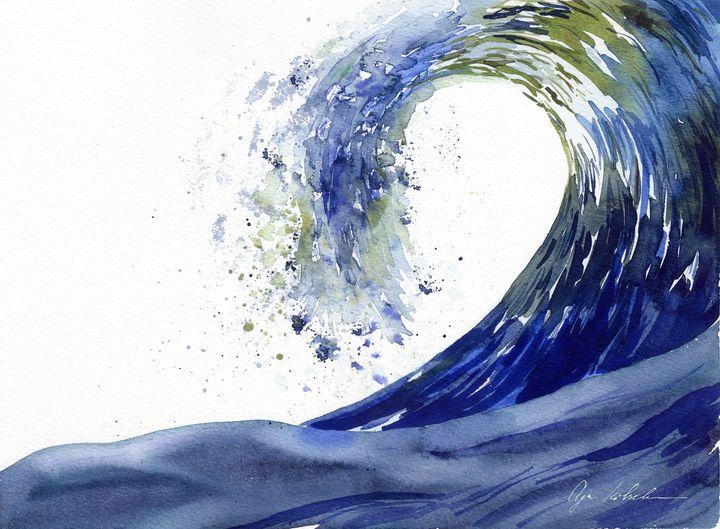 Surfing Wave in Japan Style - Olga Koelsch