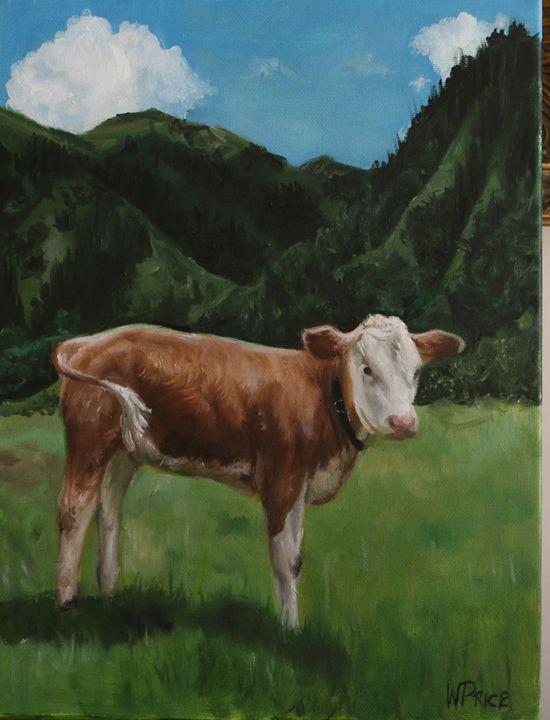 Swiss Calf - Oil and Print Originals by W.A.P