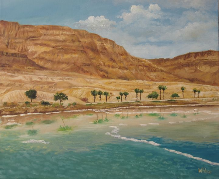 The Dead Sea - Oil and Print Originals by W.A.P