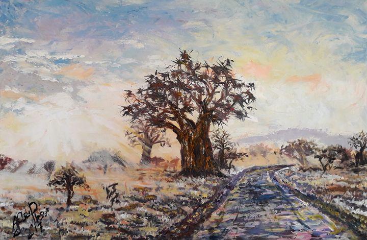 Old Boabab Guarding the Roadside - Ian du Plessis