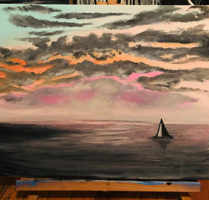 Sailing in the dawn - With all my Art (Erin Hart)