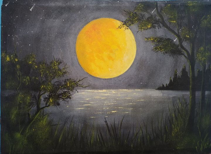 Moonlight night with you - Akash art